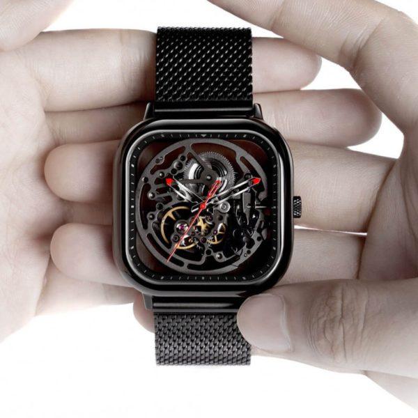 Часы с кожаным ремешком Xiaomi CIGA Design Anti-Seismic Machanical Watch Wristwatch